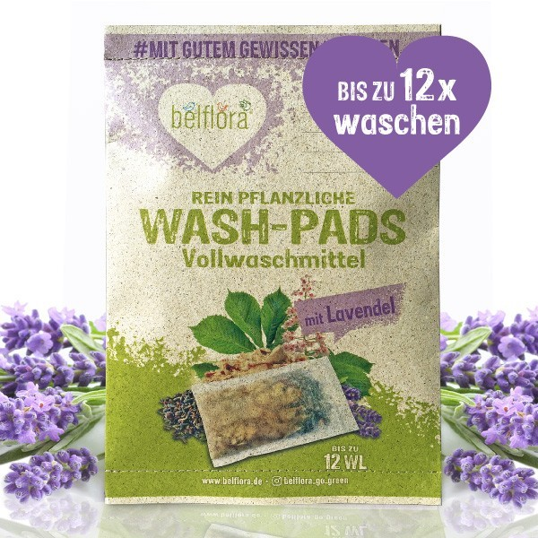 Lavendel Waschmittel mit Lavendelblüten für 12 Waschladungen