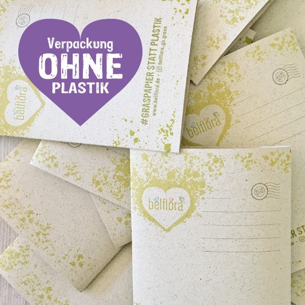Waschmittel nachhaltig verpackt in Graspapier